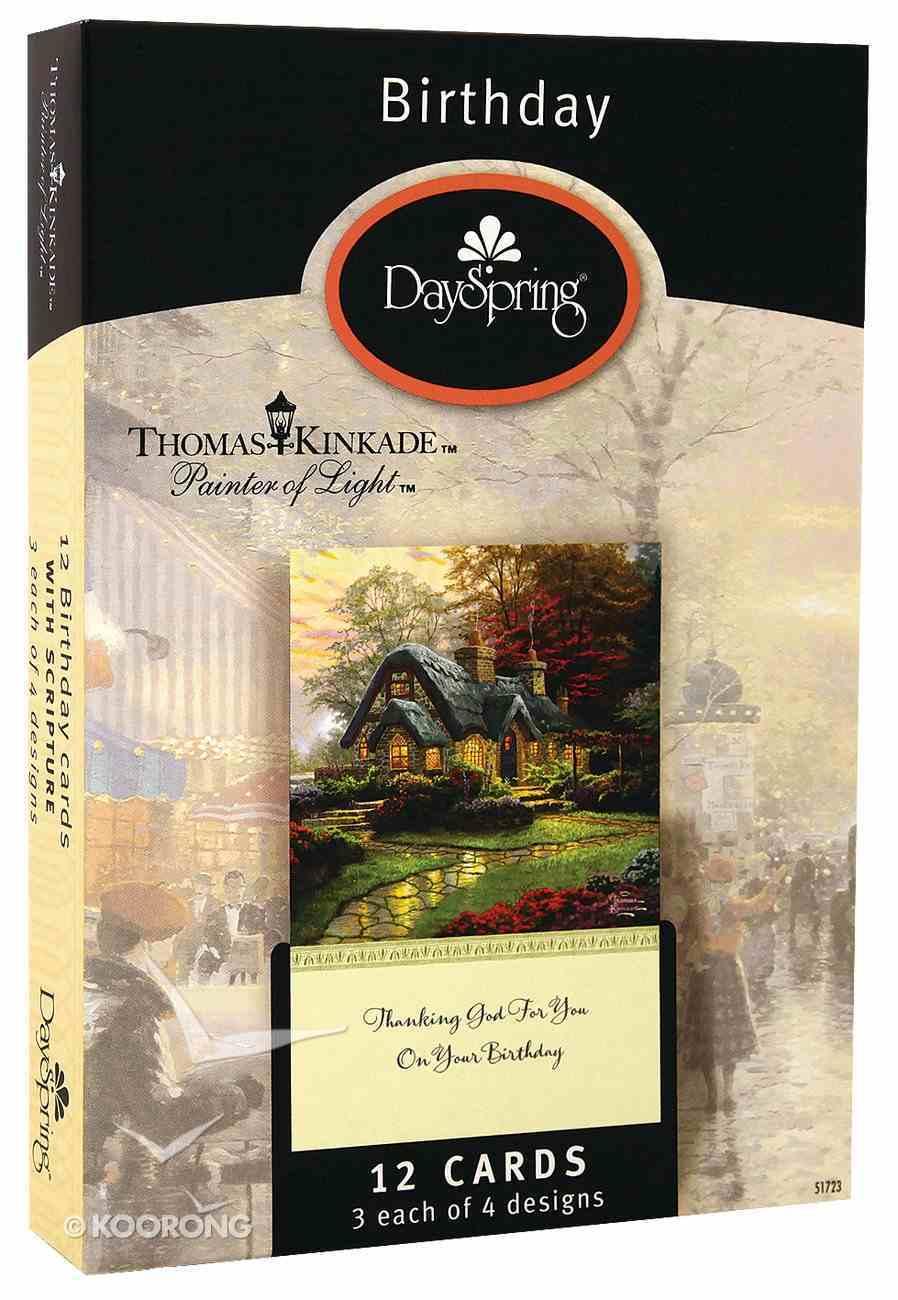 "Boxed Cards Birthday: Thomas Kinkade ""Painter of Light"" Box"
