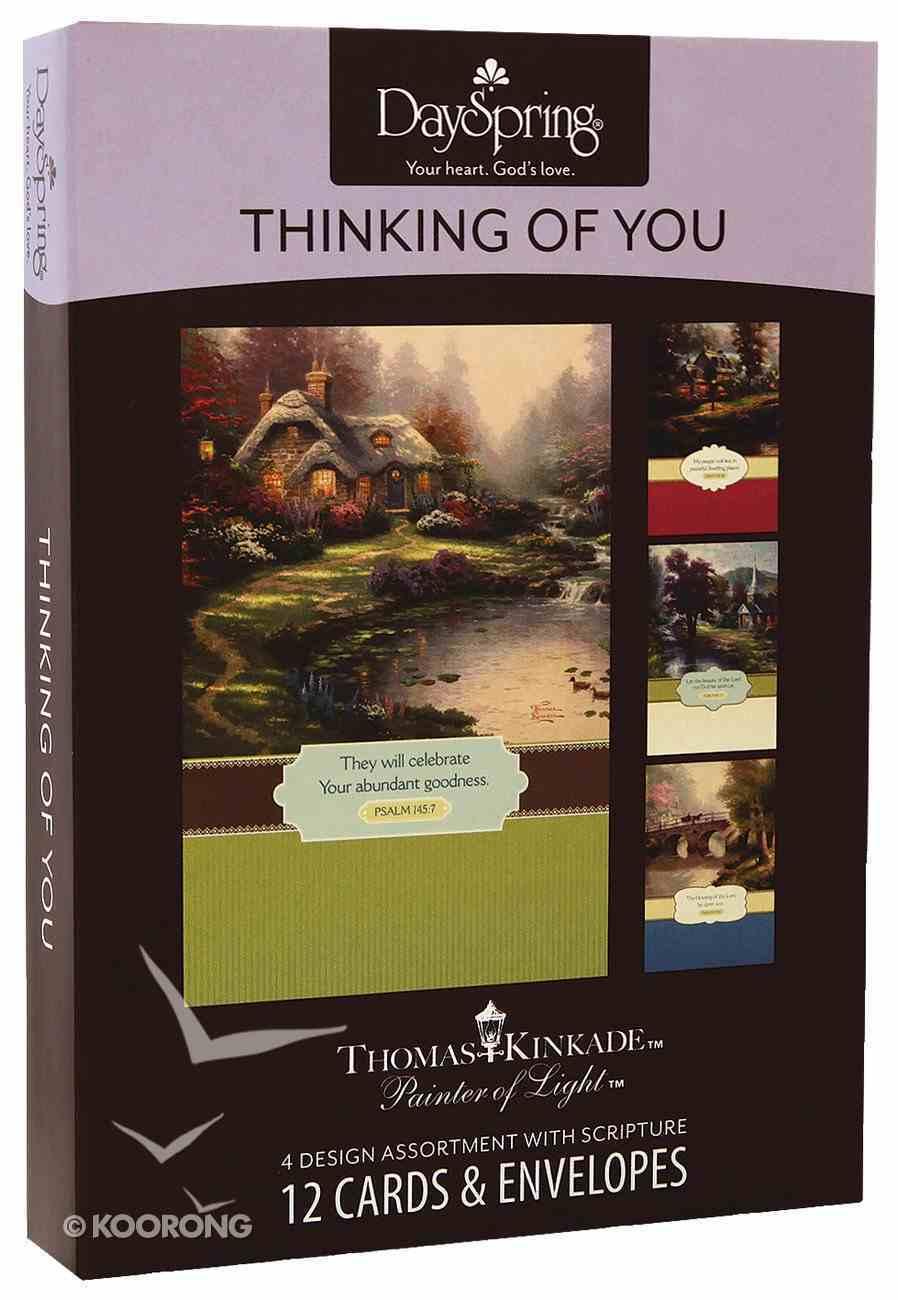 """Boxed Cards Thinking of You: Thomas Kinkade - """"Painter of Light"""" Box"""