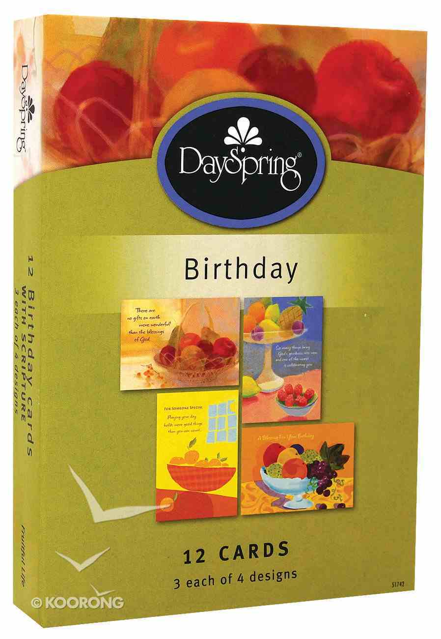 Boxed Cards Birthday: Fruitful Life Box
