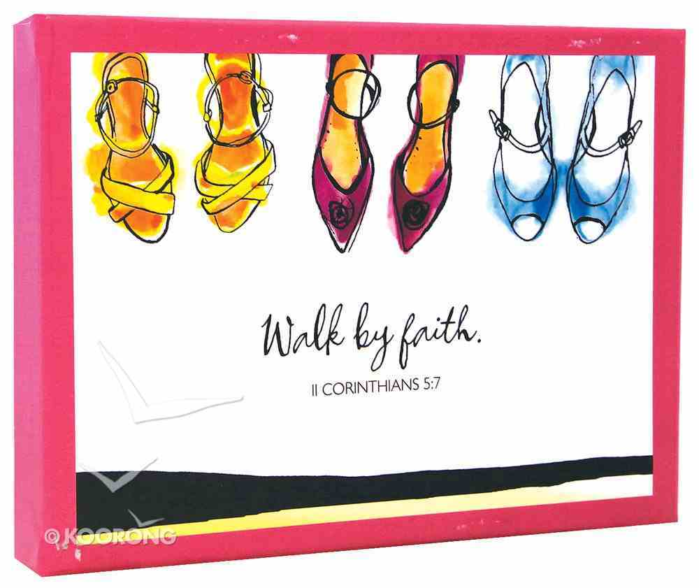 Boxed Notes: Walk By Faith, Psalm 37:23, 2 Corinthians 5:7 Box