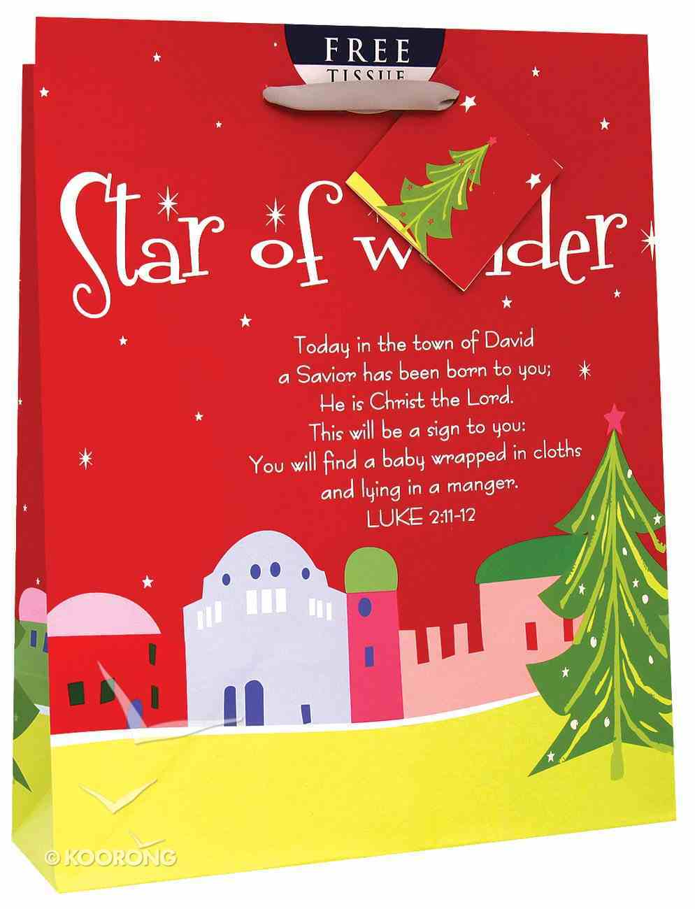 Christmas Gift Bag: Star of Wonder (Medium) Stationery