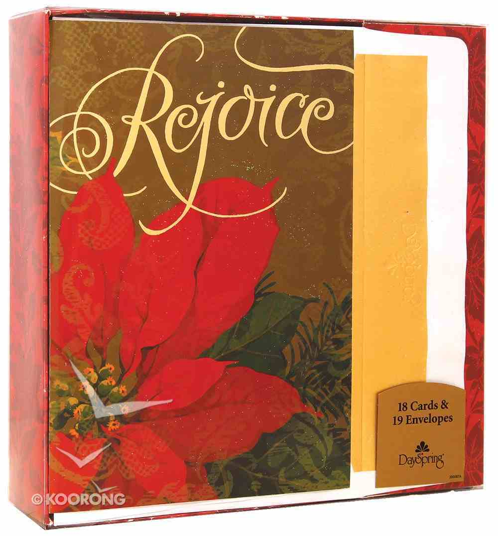 Christmas Cards: Rejoice (Pk 18) Pack