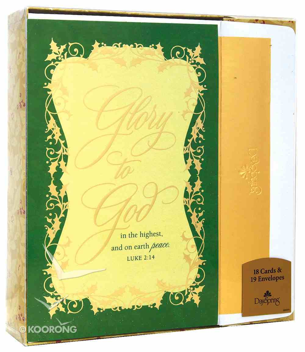 Christmas Premium Boxed Cards: Glory to God (Luke 2:14 Kjv) Box
