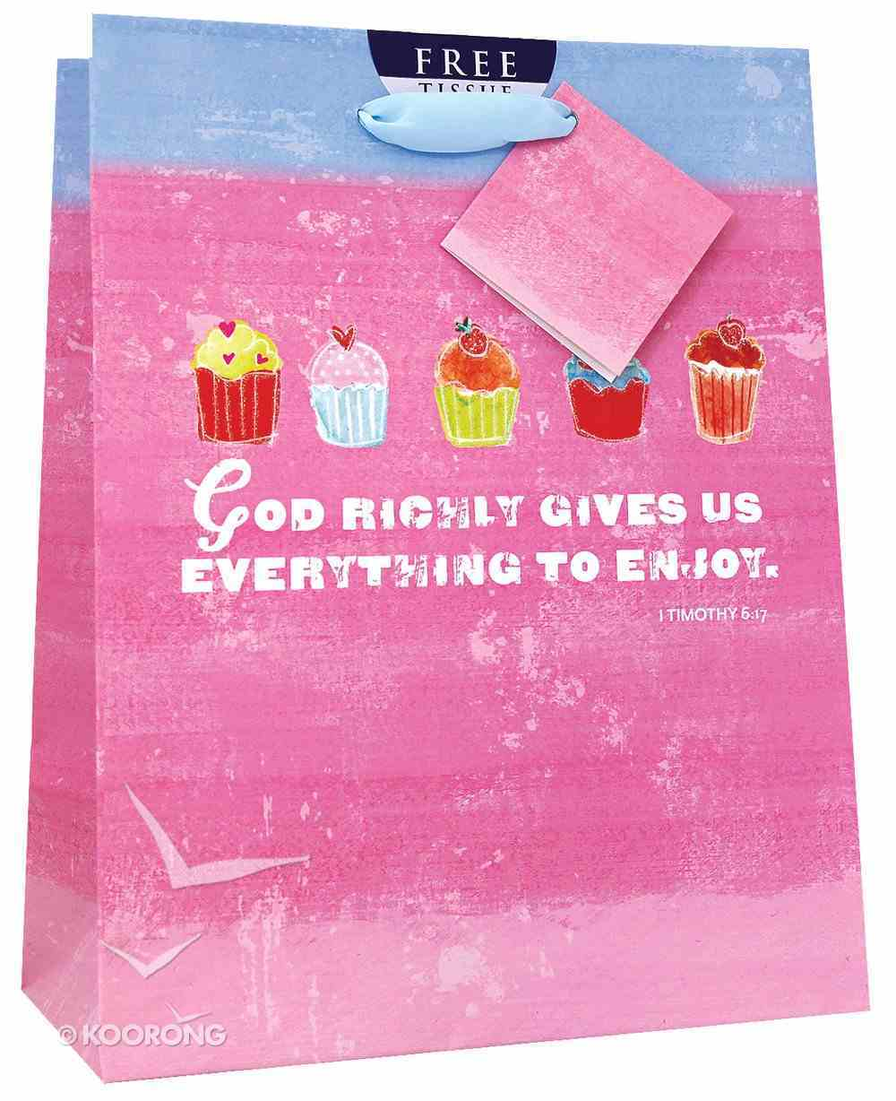 Gift Bag Medium: Sweet Gifts Cupcakes (Incl Tissue Paper & Gift Tag) Stationery