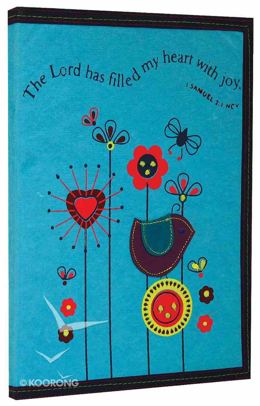 Teal Flower Soft Notebook Stationery