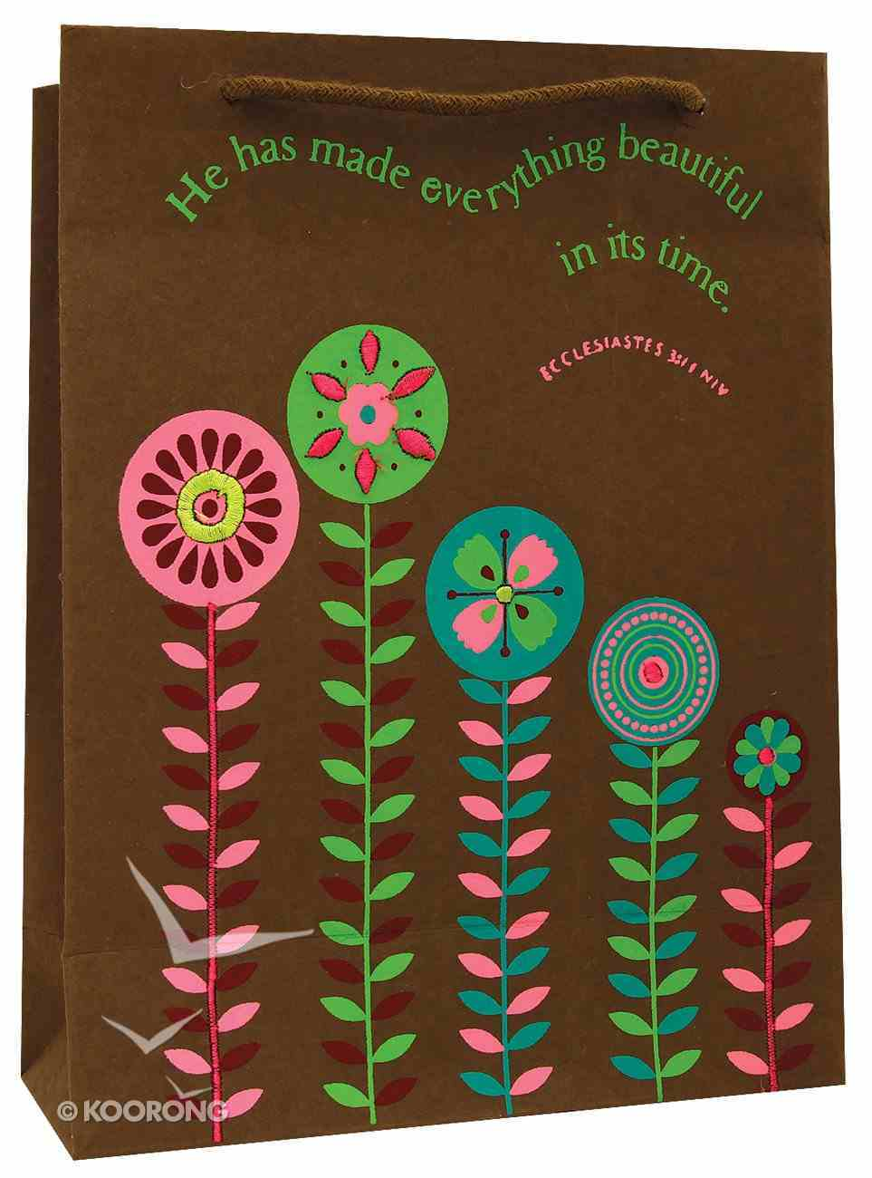 Cocoa Flower Gift Bag Stationery