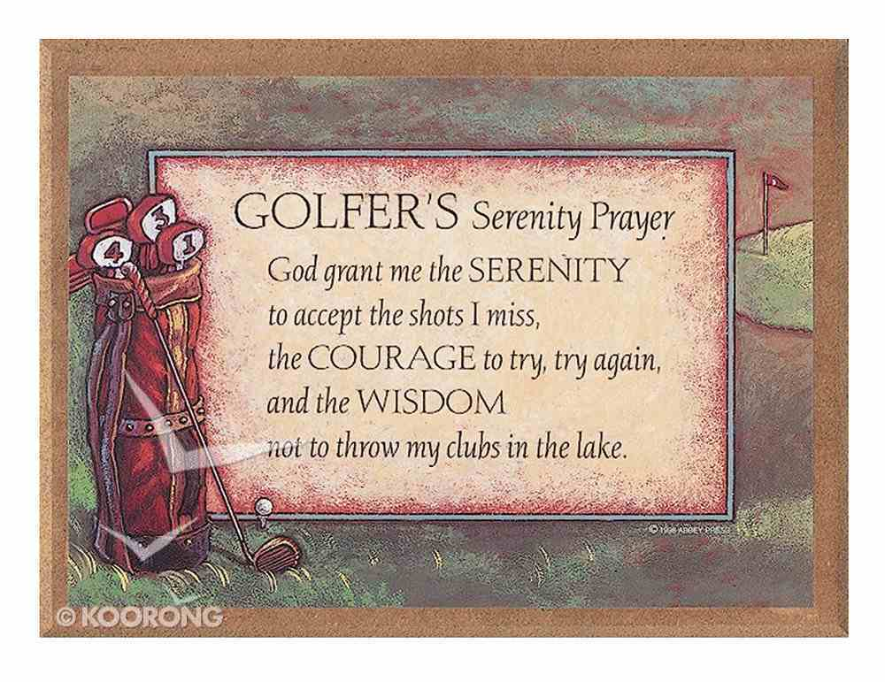 Plaque: Golfers Serenity Prayer Plaque