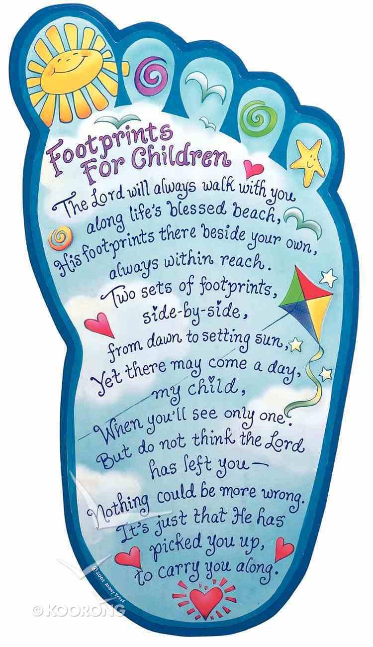 Footprints For Children Plaque Plaque
