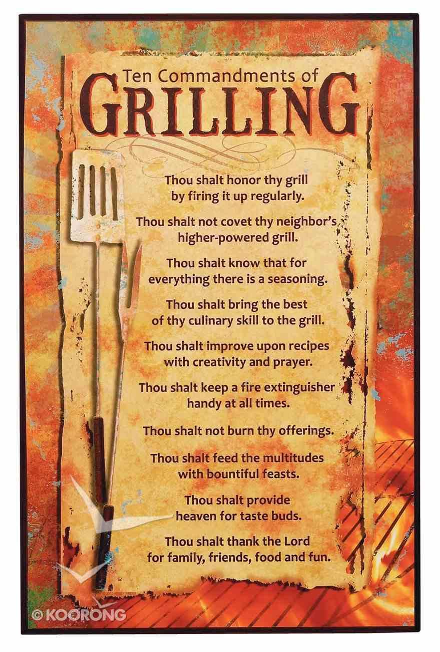 Plaque: Ten Commandments of Grilling Plaque
