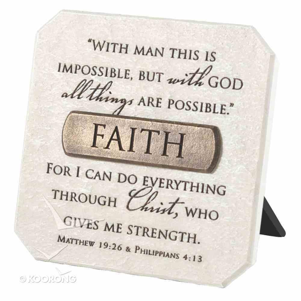 Plaque: Faith (Polyresin) Plaque