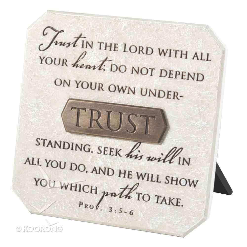 Plaque: Trust (Polyresin) Plaque
