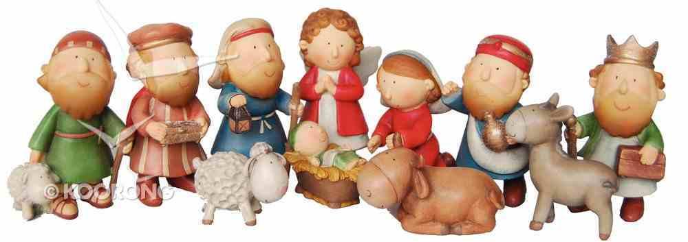 Childrens Nativity Set 11 Pieces Tallest Piece 8.95Cm Homeware