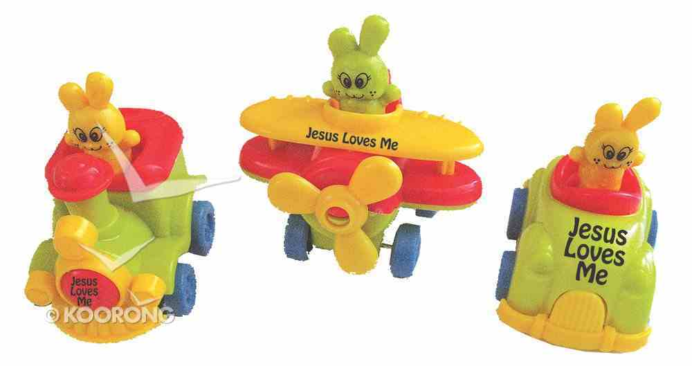 3 Assorted Pull Back Cartoon Cars: 3 Pieces Per Pack Novelty