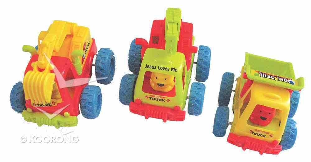 3 Assorted Big Wheel Trucks: 3 Pieces Per Pack Novelty