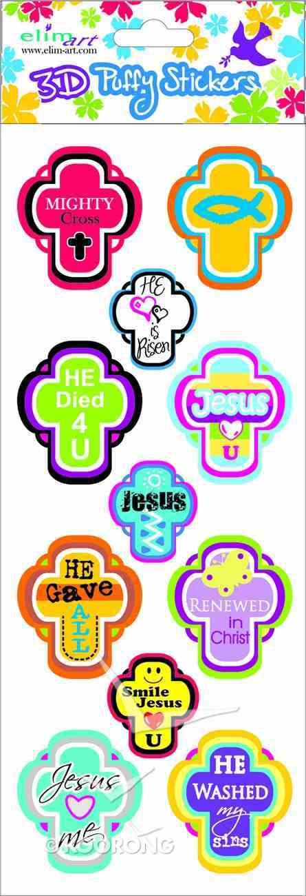 Puffy Stickers on a Single Sheet: Cross Series Novelty
