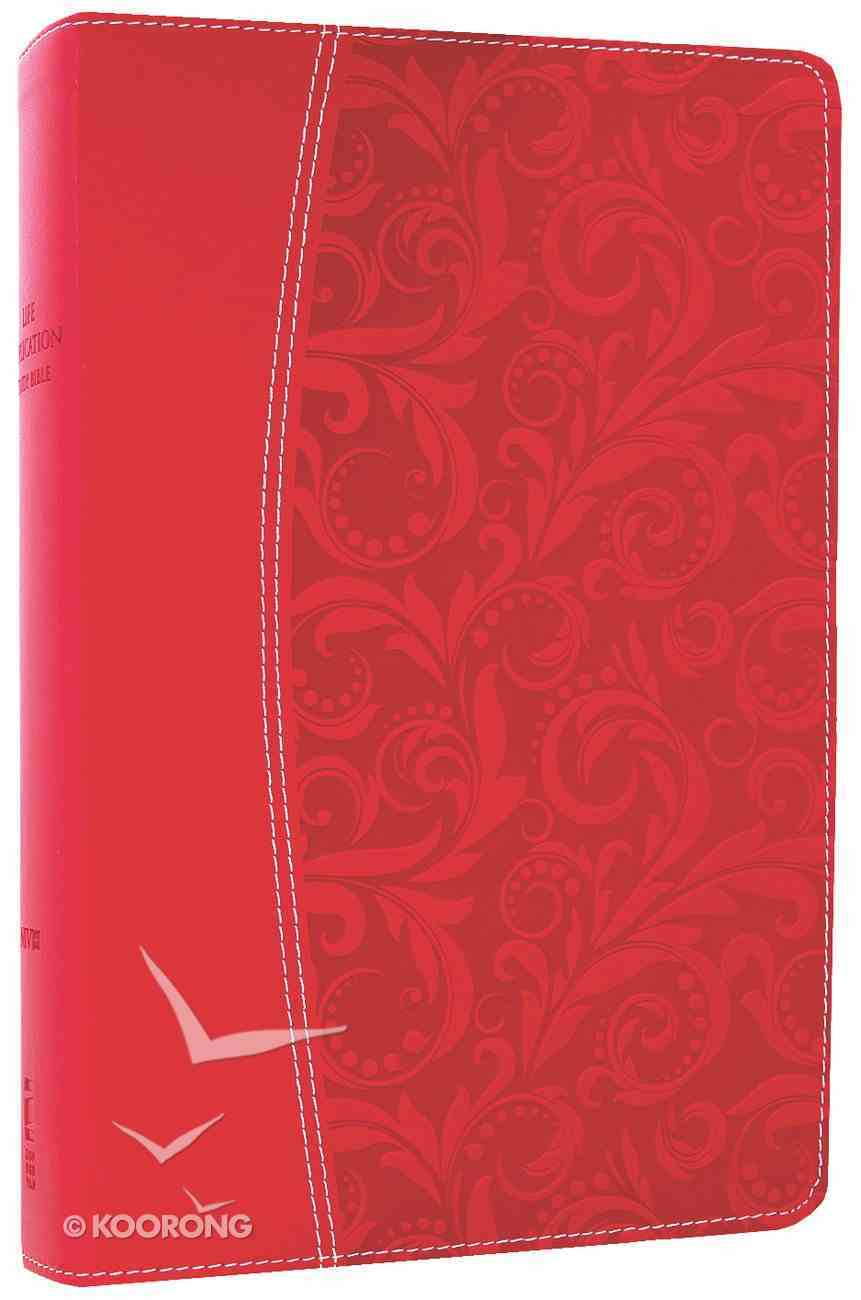 NIV Life Application Study Bible Honeysuckle Pink (Red Letter Edition) Premium Imitation Leather