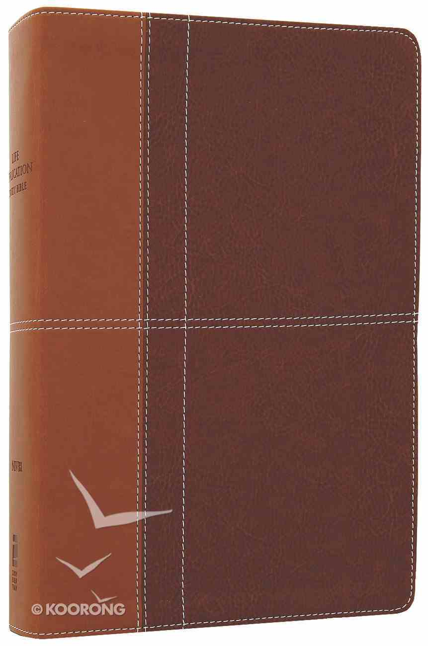 NIV Life Application Study Bible Caramel/Dark Caramel (Red Letter Edition) Premium Imitation Leather