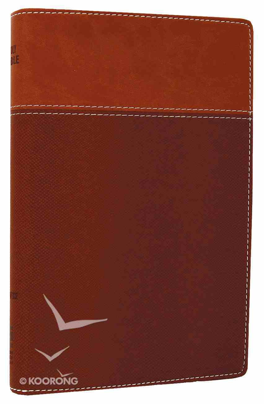 NIV Thinline Bible Tan/Dark Tan Duo-Tone (Red Letter Edition) Imitation Leather