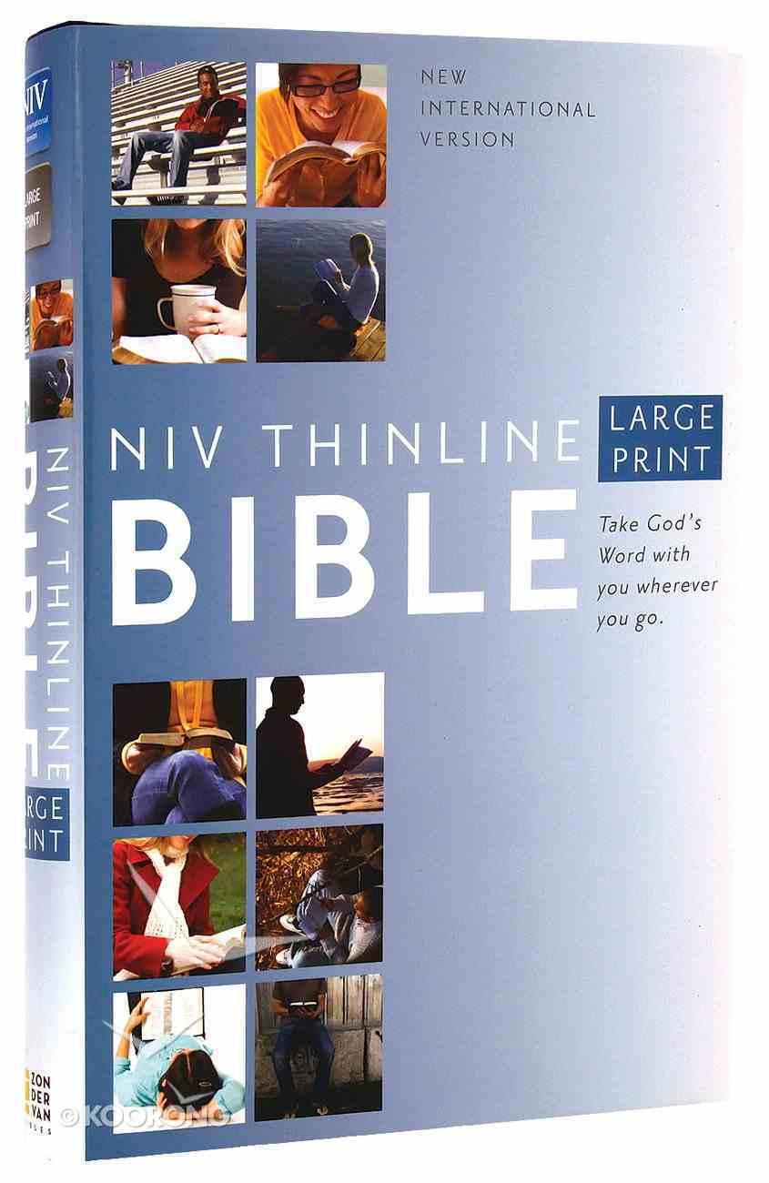 NIV Large Print Thinline Bible (Red Letter Edition) Hardback