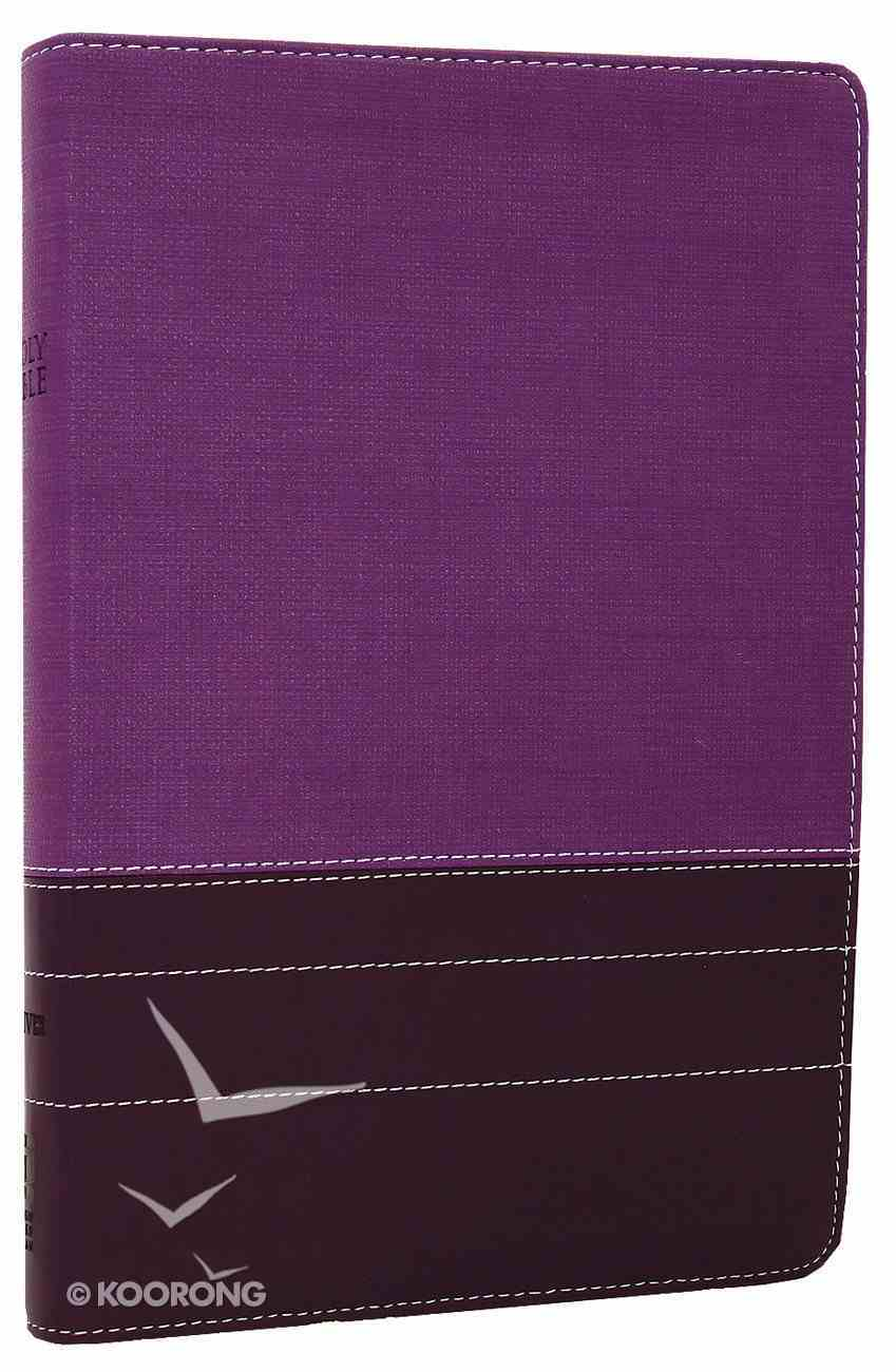 NIV Large Print Thinline Bible Purple Plum Duo-Tone (Red Letter Edition) Imitation Leather