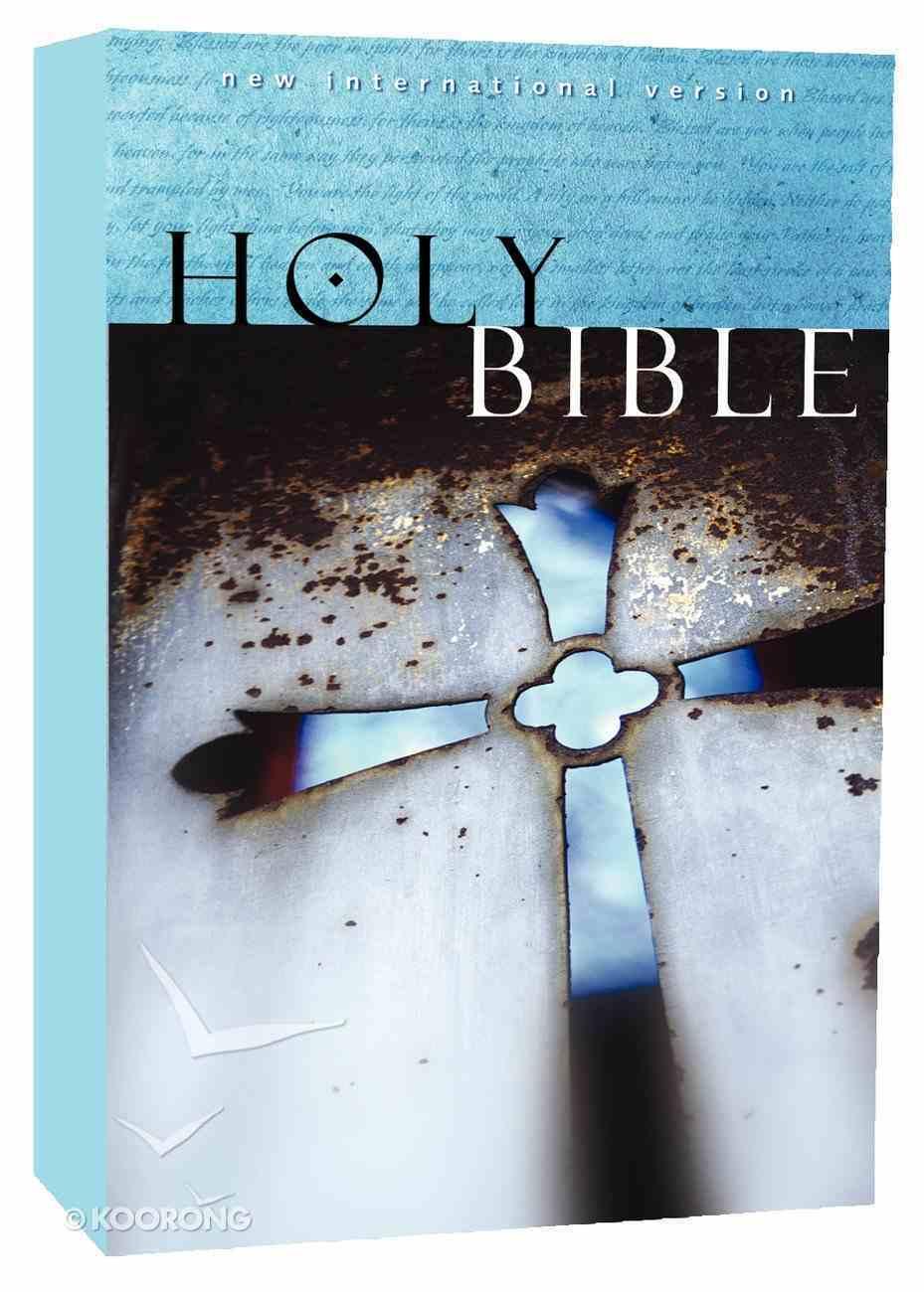 NIV Holy Bible Witness Edition Blue Cross (Black Letter Edition) Paperback