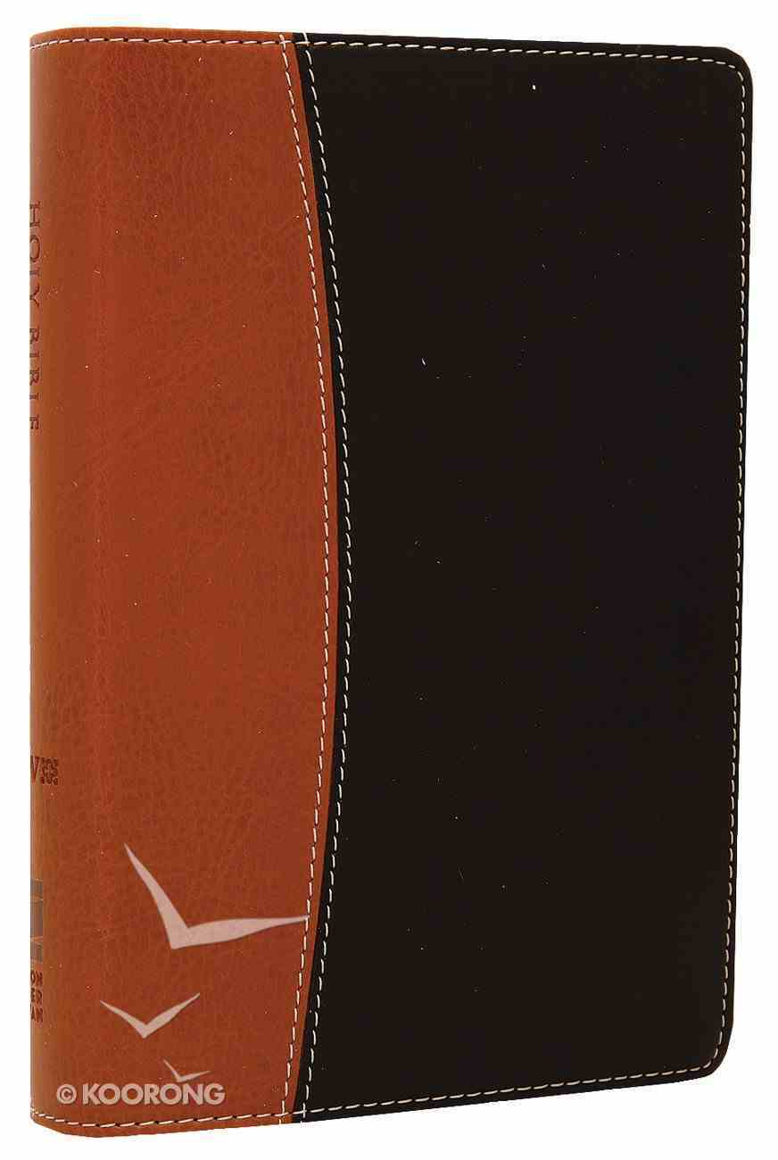 NIV Compact Thinline Reference Tan/Black Duo-Tone (Red Letter Edition) Imitation Leather