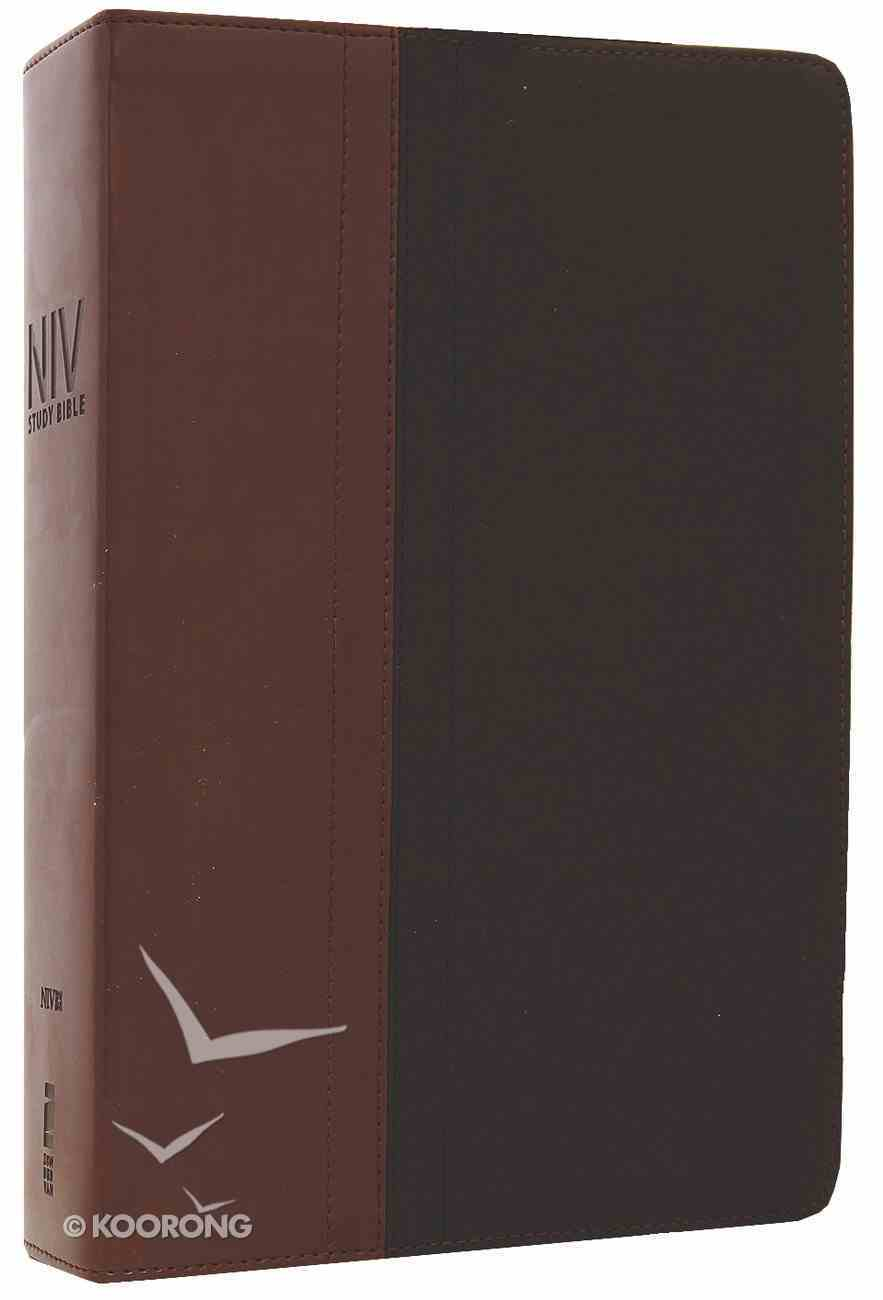 NIV Study Bible Chocolate/Black (Red Letter Edition) Premium Imitation Leather