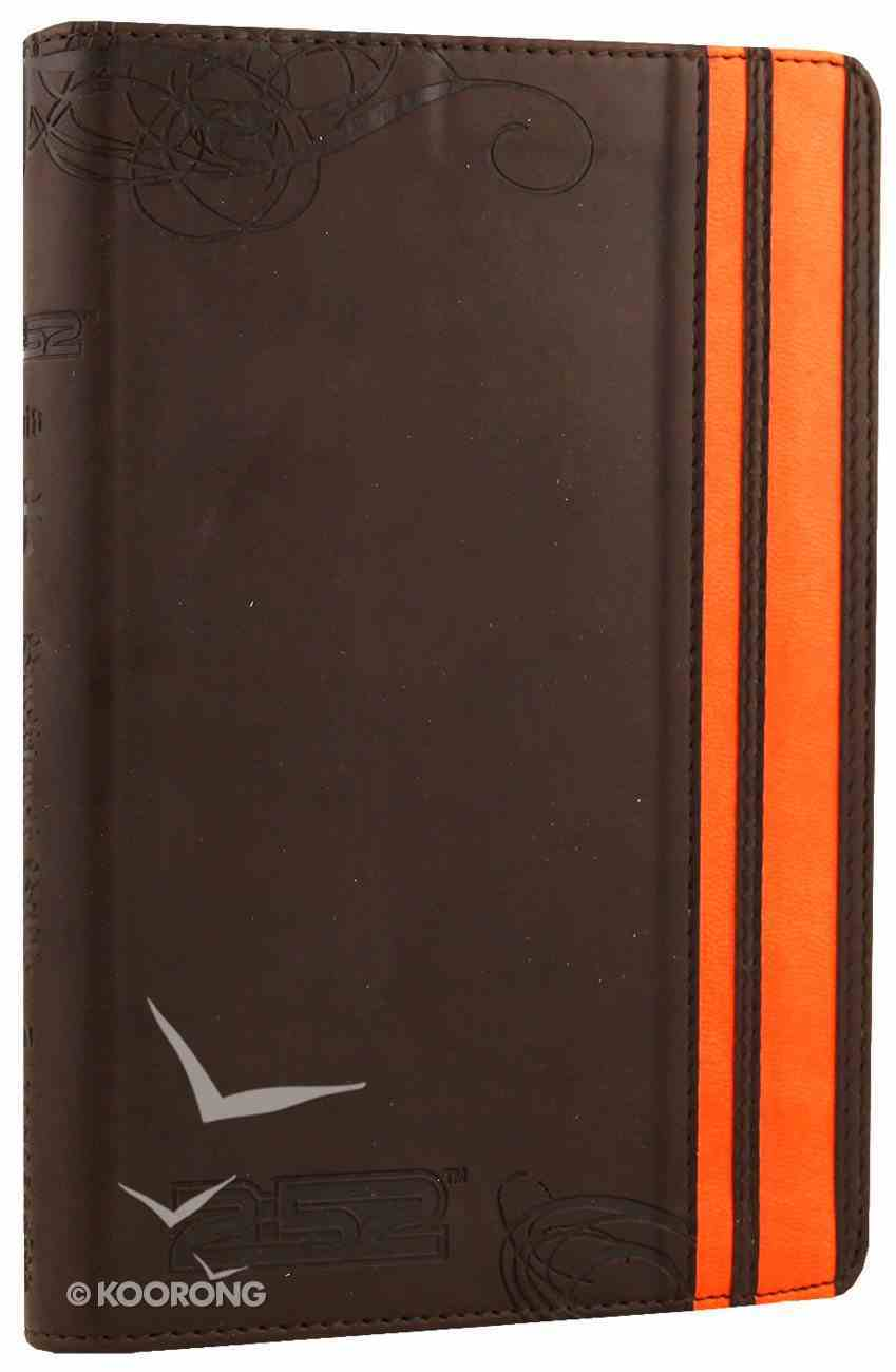 NIV Backpack Bible Brown Orange Duo-Tone (Red Letter Edition) Imitation Leather