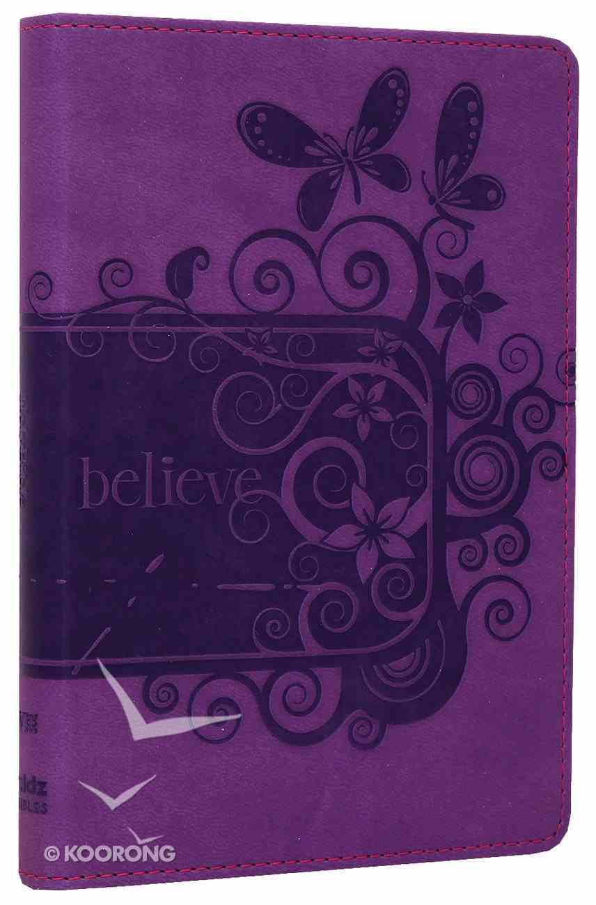 NIV Backpack Bible Pizzaz Purple Duo-Tone (Red Letter Edition) Imitation Leather