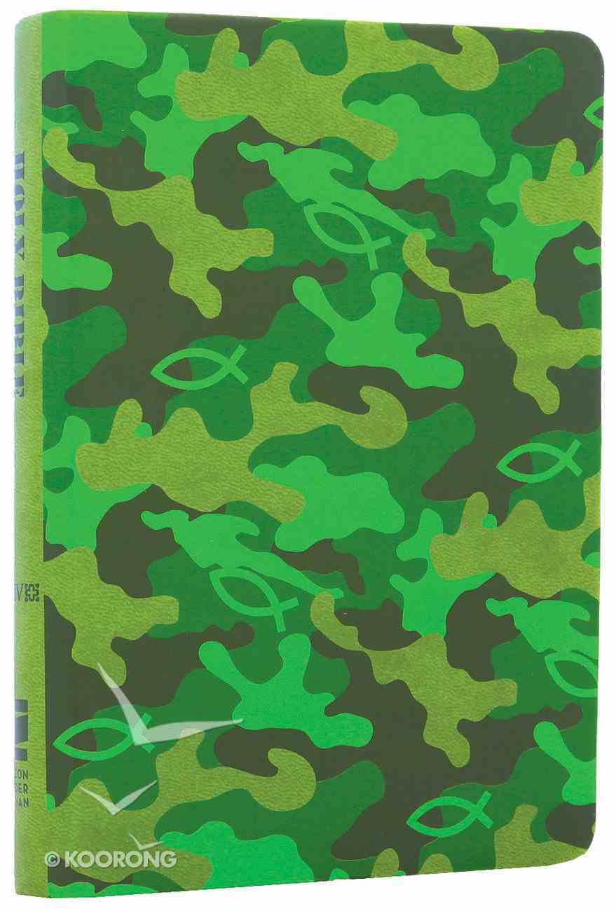 NIV Backpack Camo Green Duo-Tone Bible (Red Letter Edition) Imitation Leather
