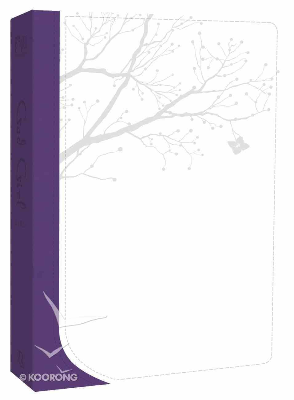 God's Word God Girl Snow White/Deep Purple Tree Design Imitation Leather