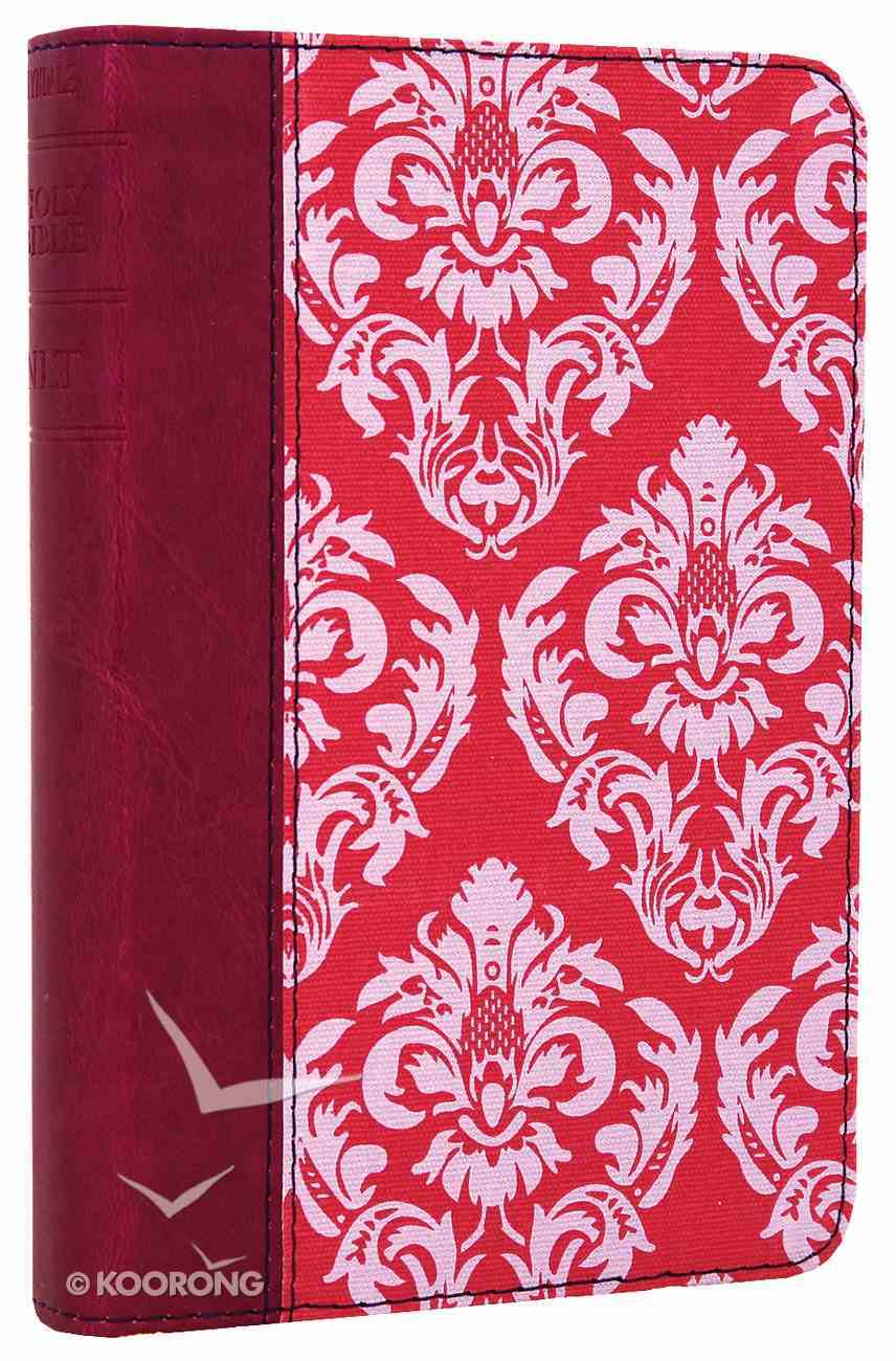 NLT Compact Bible Fuchsia Floral/Plum (Black Letter Edition) Imitation Leather