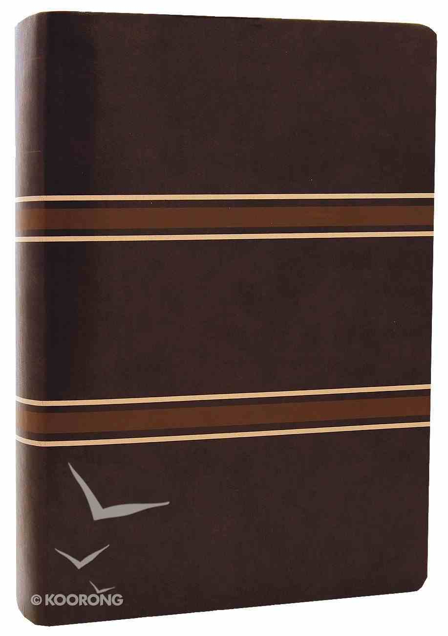 NLT Life Application Study Dark Brown/Tan Stripes (Red Letter Edition) Imitation Leather