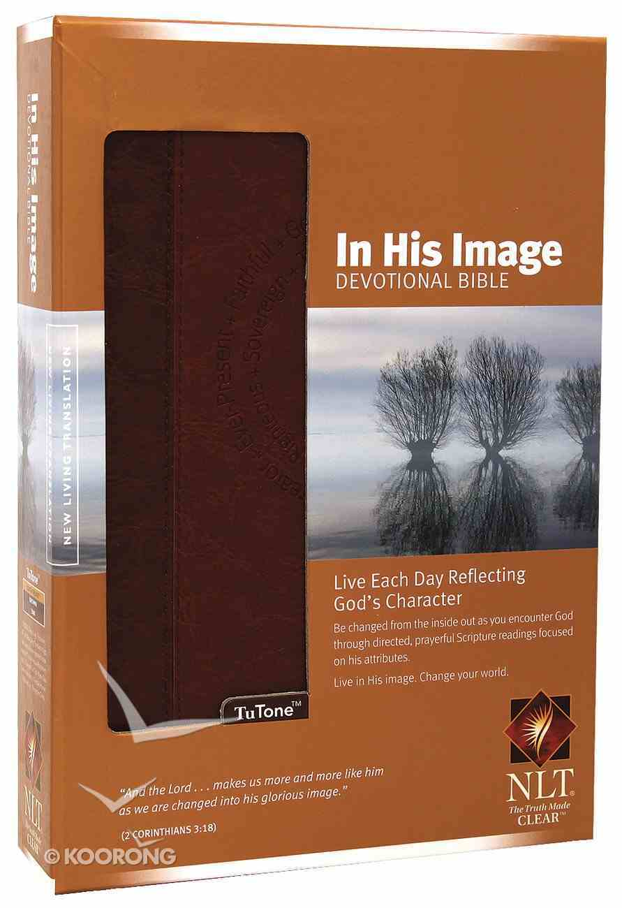 NLT in His Image Devotional Brown Tan (Men's Edition) Imitation Leather