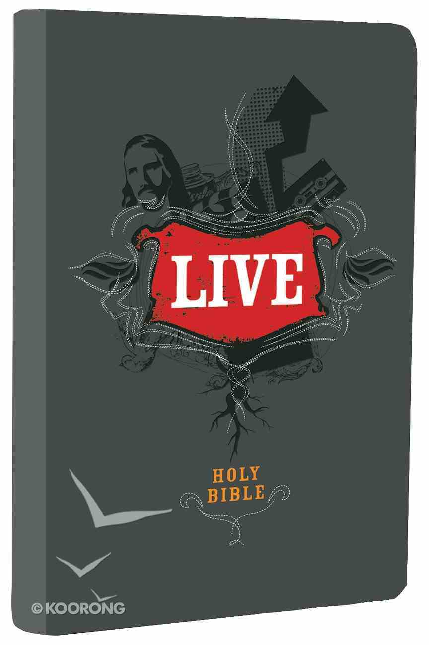 NLT Live Bible Charcoal Sketch (Black Letter Edition) Imitation Leather