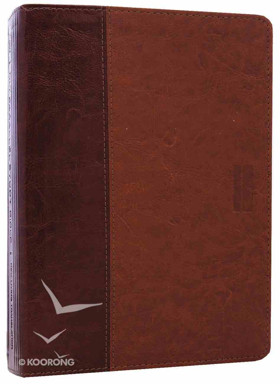 NLT Parallel Study Bible Brown/Tan (Black Letter Edition) Imitation Leather