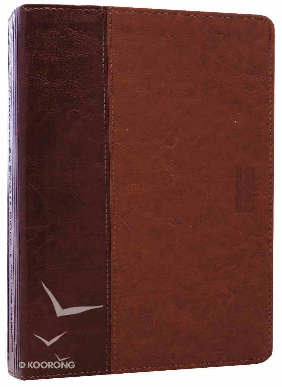 NLT Parallel Study Bible Brown/Tan (Black Letter Edition) Imitation Leather