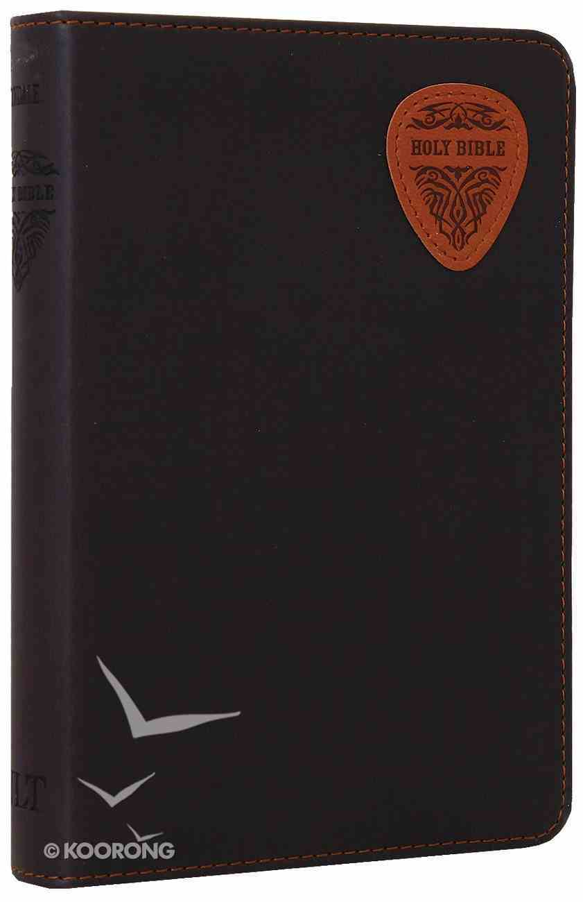 NLT Compact Bible Brown/Tan Guitar Pick (Black Letter Edition) Imitation Leather