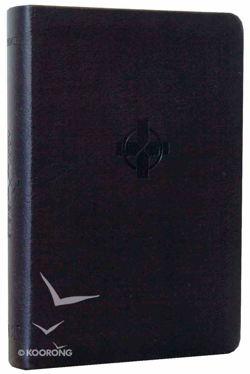 NLT Compact Bible Black Cross (Black Letter Edition) Imitation Leather