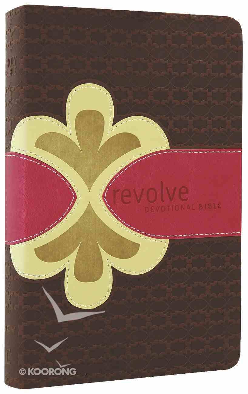 Ncv Revolve Devotional Bible Teen Girls Chocolate/Raspberry Biscuit Premium Imitation Leather