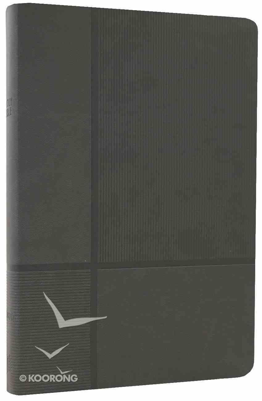 NKJV Giant Print Reference Bible Stormcloud Gray Premium Imitation Leather