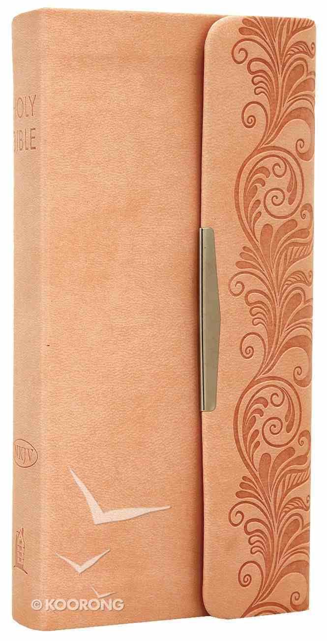 NKJV Checkbook Bible Fleshtone Beige Premium Imitation Leather