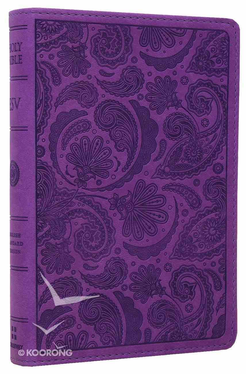 ESV Compact Bible Purple Paisley Design (Black Letter Edition) Imitation Leather