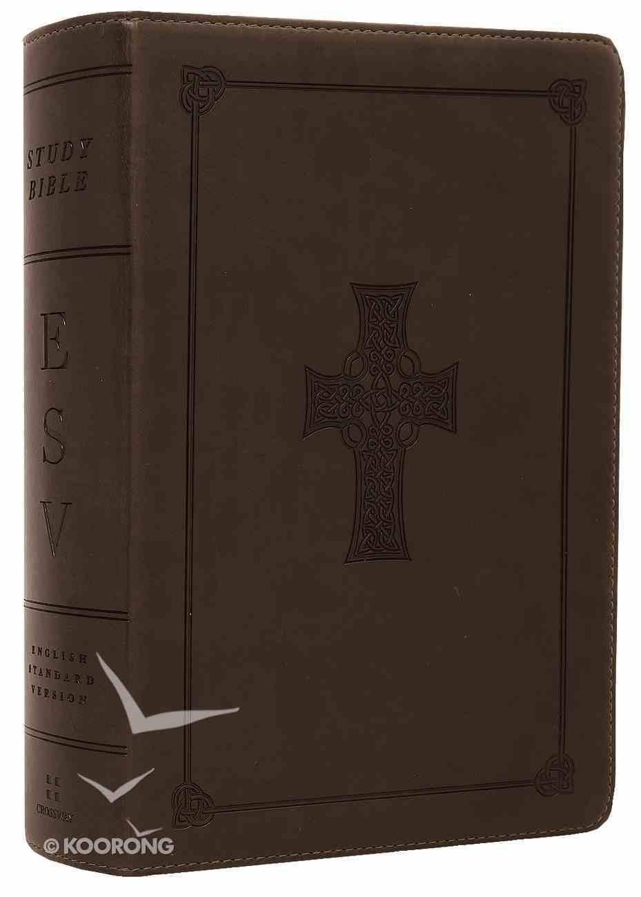 ESV Study Bible Personal Size Olive Celtic Cross Trutone (Black Letter Edition) Imitation Leather