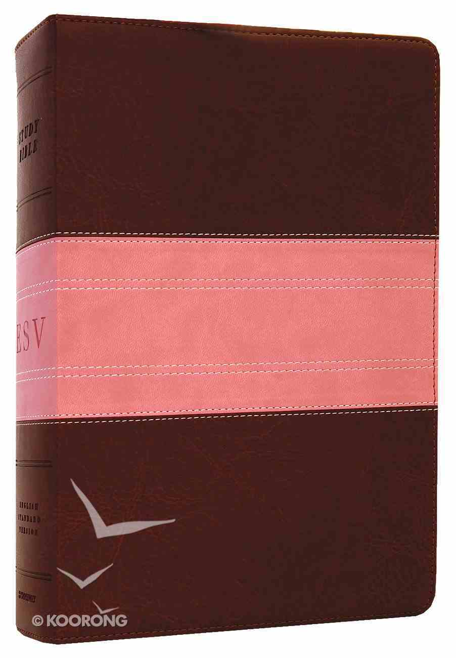 ESV Study Bible Rose/Brown Trail Trutone (Black Letter Edition) Imitation Leather