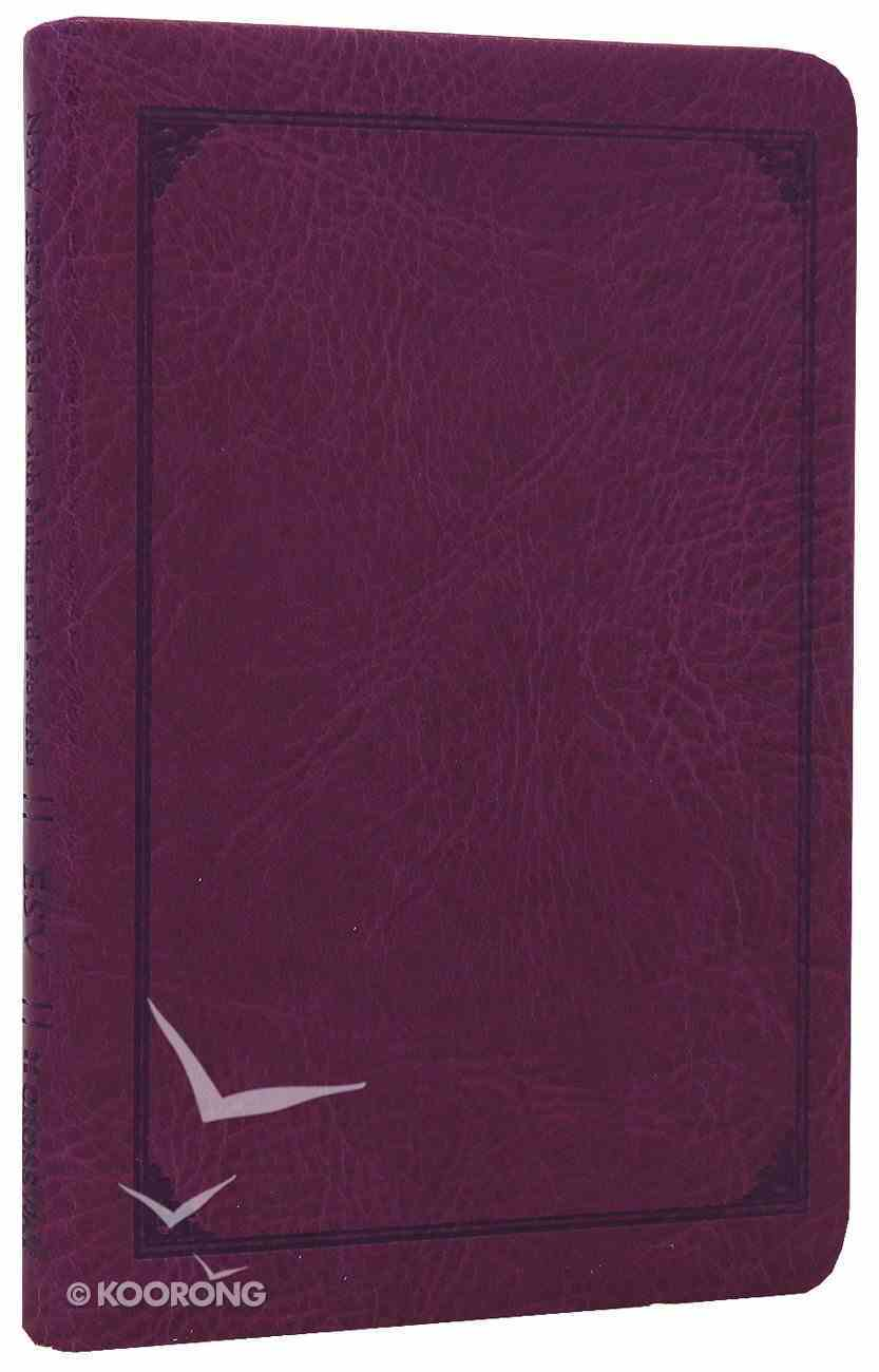 ESV Compact New Testament With Psalms and Proverbs Plum Frame Design Imitation Leather