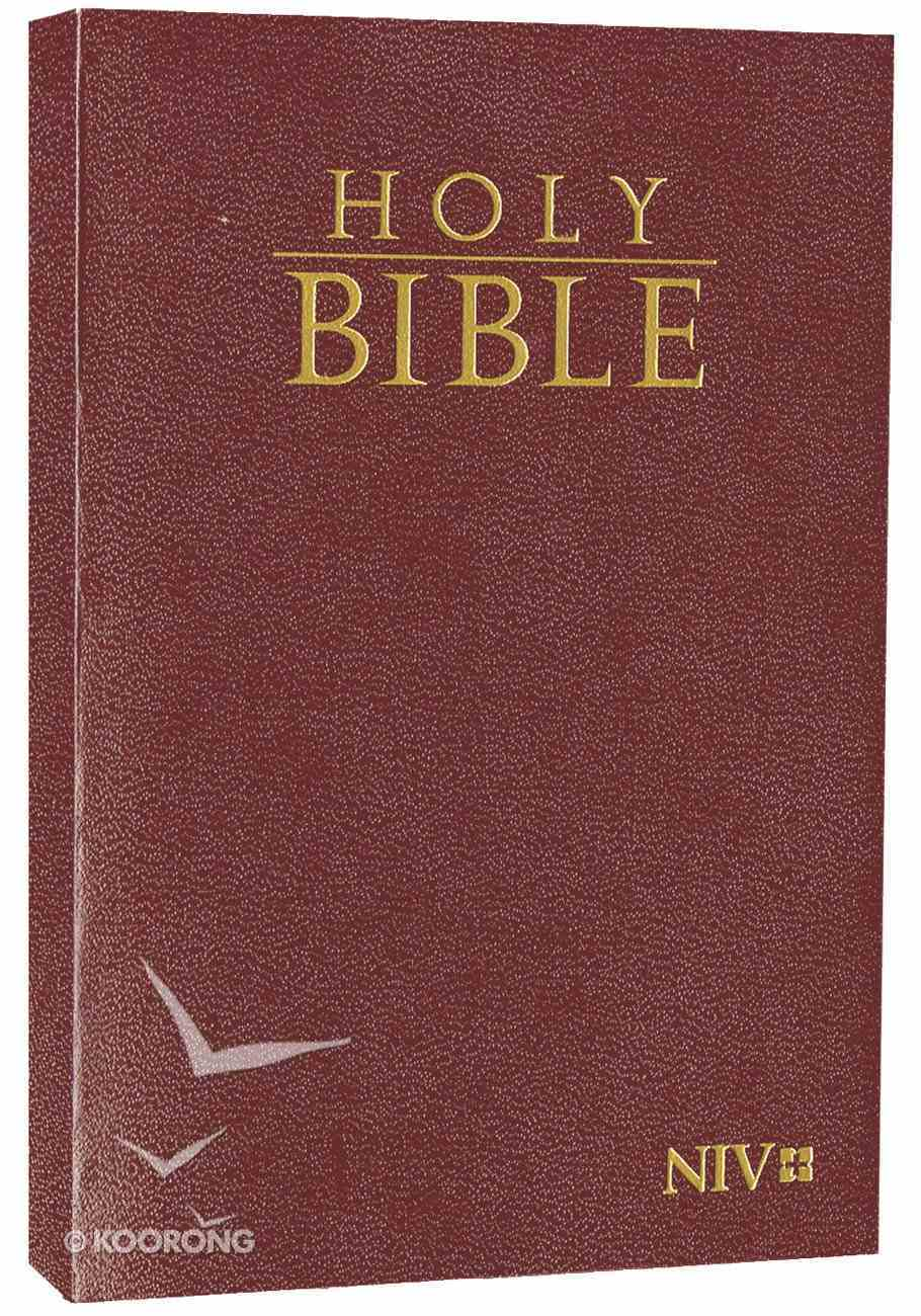 NIV Holy Bible Take It Anywhere Compact Burgundy (Black Letter Edition) Paperback