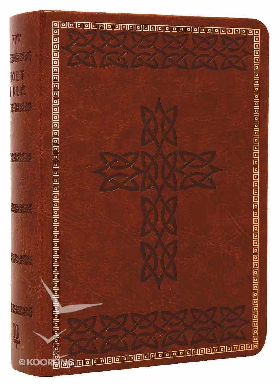 KJV Large Print Compact Reference Brown Premium Imitation Leather