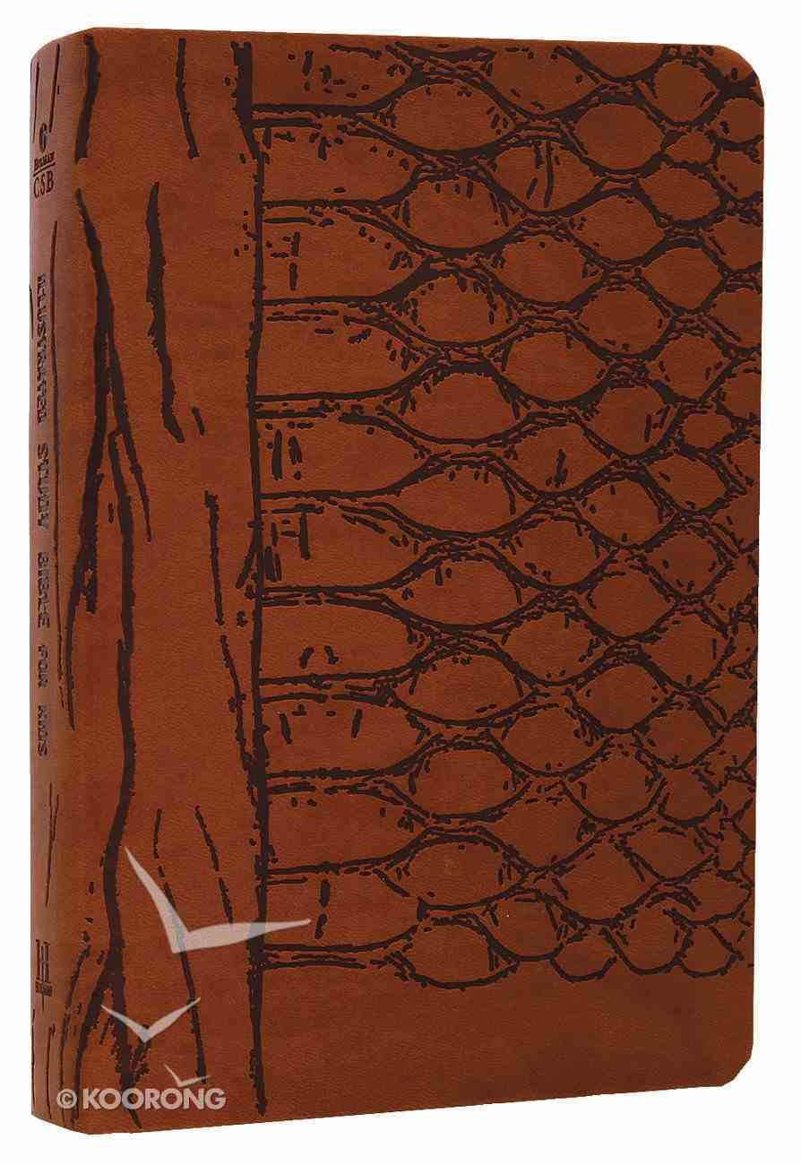 HCSB Illustrated Study Bible For Kids Brown Imitation Leather