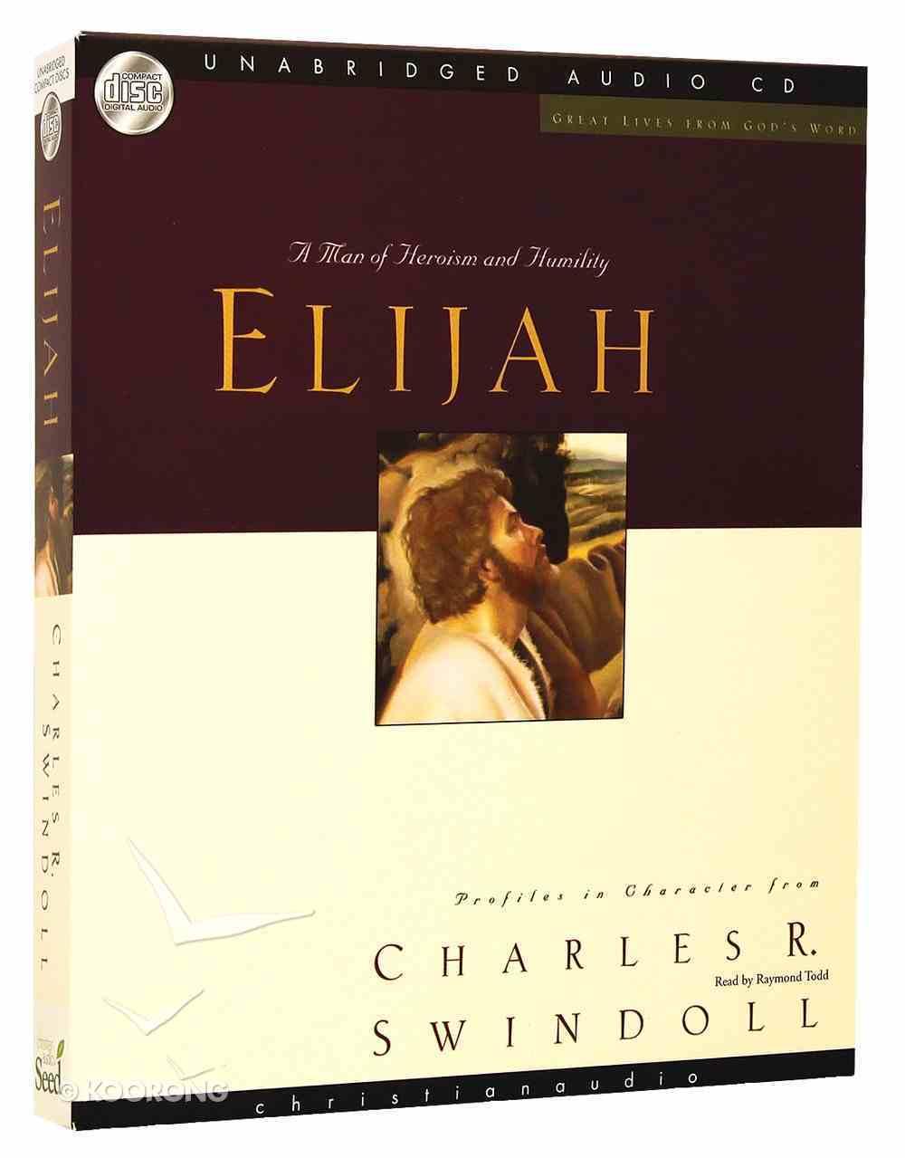 Great Lives From God's Word: Elijah (Unabridged 5 Cds) CD